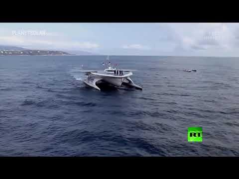 أكبر سفينة في العالم تعمل بالكامل بالطاقة الشمسية
