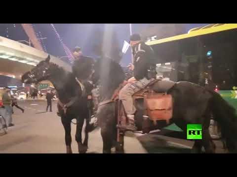 شاهد الشرطة تتعامل مع مسيرة المتدينين اليهود
