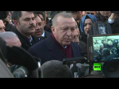 شاهد الرئيس التركي يصل إلى المنطقة المنكوبة بالزلزال