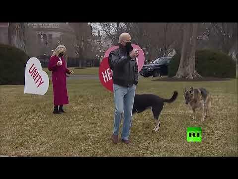 شاهدالرئيس الأمريكي جو بايدن يتوقف عند رسالة عيد الحب