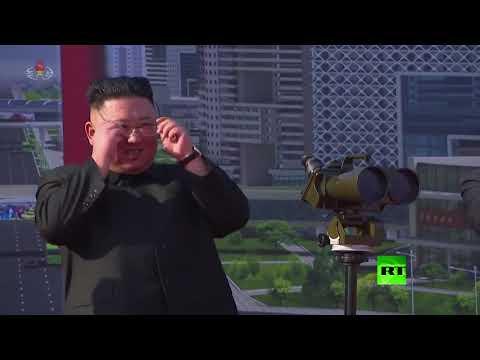 شاهدزعيم كوريا الشمالية يحضر مراسم وضع حجر أساس بمشروع بناء ضخم