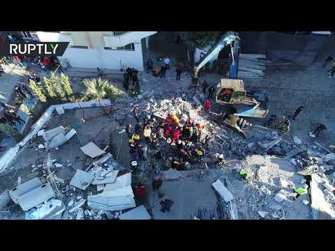شاهد آثار دمار أقوى زلزال ضرب ألبانيا منذ عشرات السنين