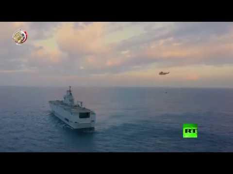 شاهد لحظة إطلاق الجيش المصري صواريخ من غواصات في البحر المتوسط