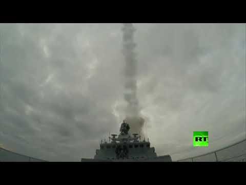 شاهد البحرية الروسية تطلق صواريخ كاليبر