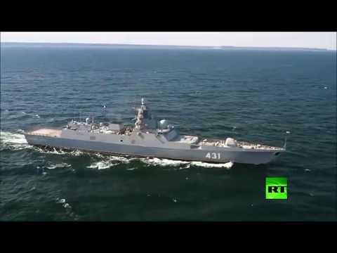 شاهد روسيا تختبر فرقاطة حربية جديدة قبل انضمامها للأسطول الشمالي