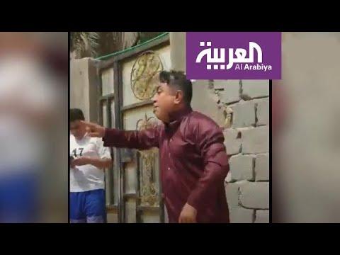 شاهد عراقي يهدد الشرطة بفتح النار عليهم