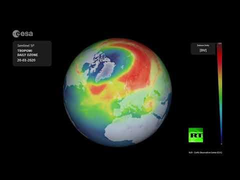 شاهد خبراء وكالة الفضاء الأوروبية يتوقعون انغلاق ثقب الأوزون في نيسان