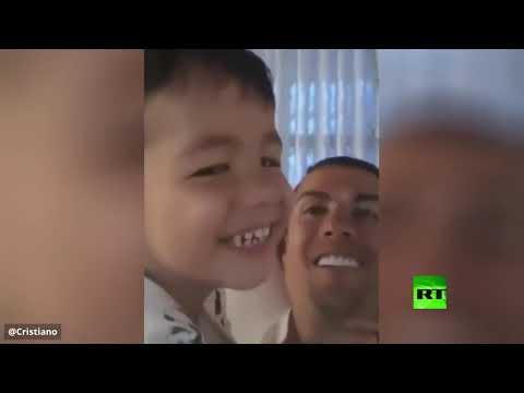 شاهد  فيديو جديد يمرح فيه مع أطفاله خلال فترة الحجر الصحي