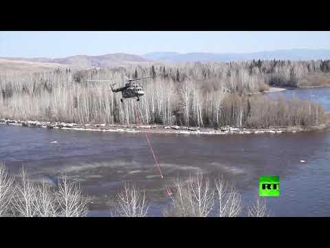 شاهد الطيران الروسي يكافح حرائق غابات تجتاح سيبيريا