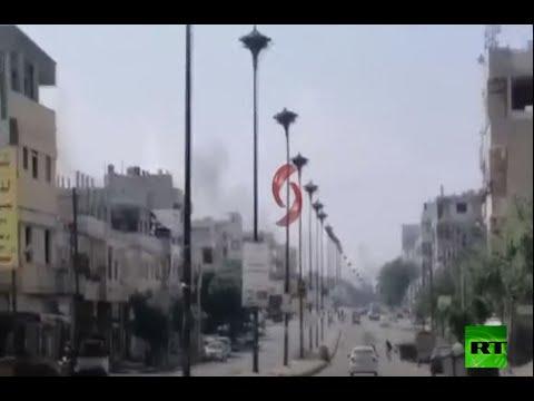 شاهد انفجار ضخم في أحد المواقع العسكرية للجيش السوري