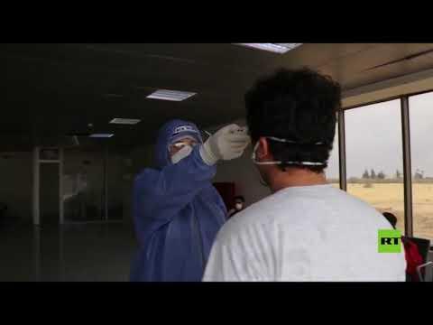 شاهد نقل 4 طلاب عائدين من الخارج في الأردن إلى مستشفى الأمير حمزة