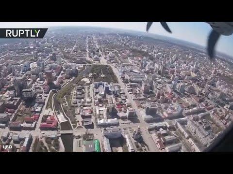 شاهد لقطات من قمرة الطيار خلال تدريبات القوات الجوية الروسية