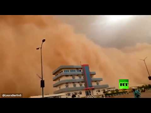 شاهد فيديو جديد لعاصفة رملية قوية ضربت عاصمة النيجر