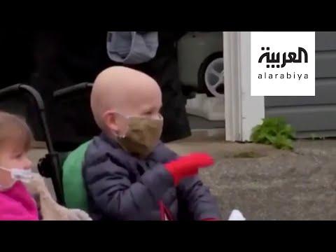 شاهد طفل في السابعة من عمره يغلب السرطان وكورونا ويعود منتصرًا