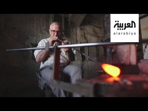 شاهد صناعة الزجاج الملون مهنة سورية تقاوم الاندثار