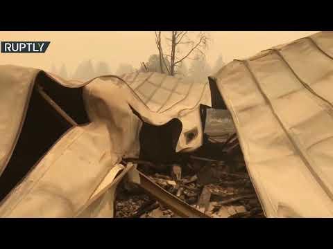 آثار الدمار الذي خلفته حرائق الغابات غربي الولايات المتحدة