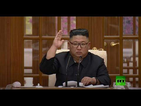شاهد الزعيم الكوري الشمالي يحضر اجتماعًا لمناقشة جهود مكافحة كورونا
