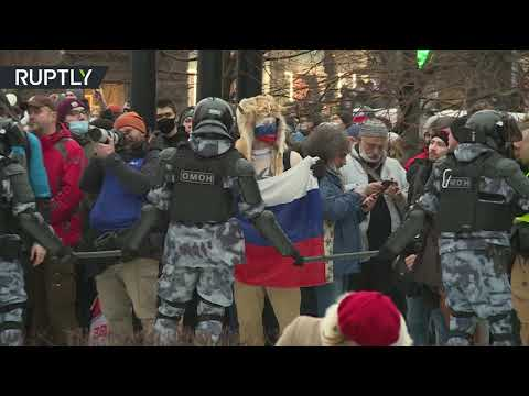 شاهدذو القرنين يظهر وسط موسكو