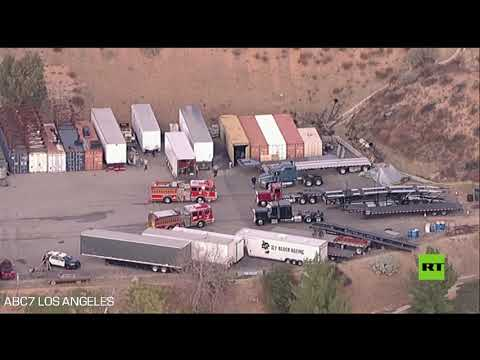 شاهدانفجار بموقع تصوير فيلم في لوس أنجلوس