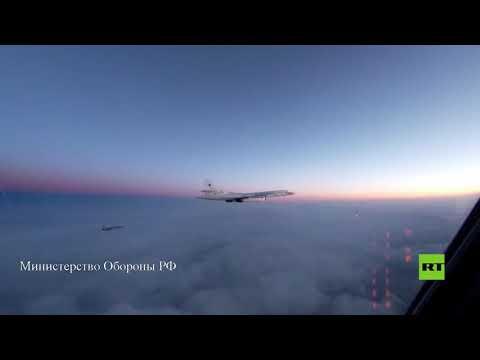 شاهدتحليق قاذفات تو160 الروسية فوق بحار بارنتس والنرويج وجرينلاند