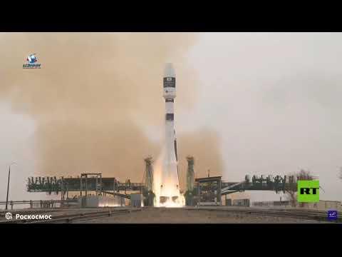 شاهد لقطات تظهر إطلاق صاروخ سويوز الروسي شاهد لقطات تظهر إطلاق صاروخ سويوز الروسي