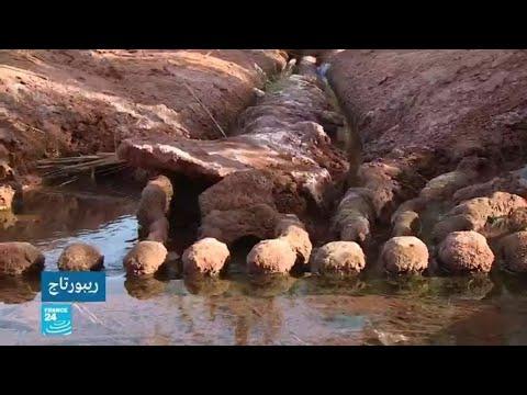 شاهد نظام الري القديم لتوزيع المياه في الجزائر  الفقارة